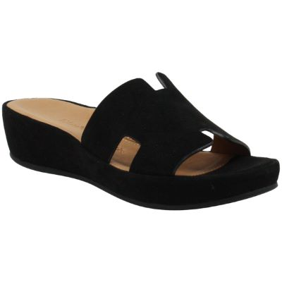 Front view of Catiana Black Suede