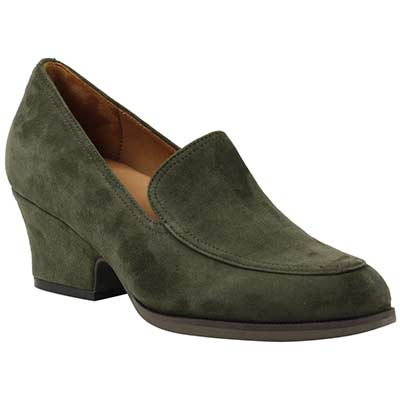 Front view of Jokul Olive Suede