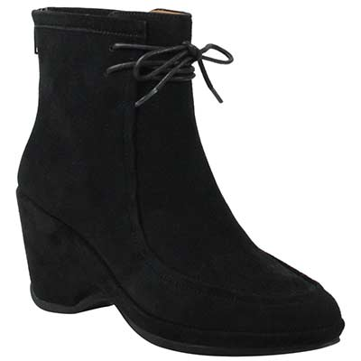 Front view of Olesia Black Suede