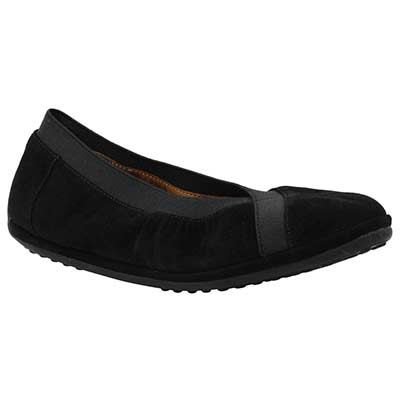 Front view of Yerusha Black Suede